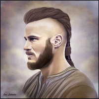 Ragnar Viking hairstyle