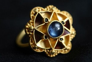 Anglo-Saxon sapphire ring